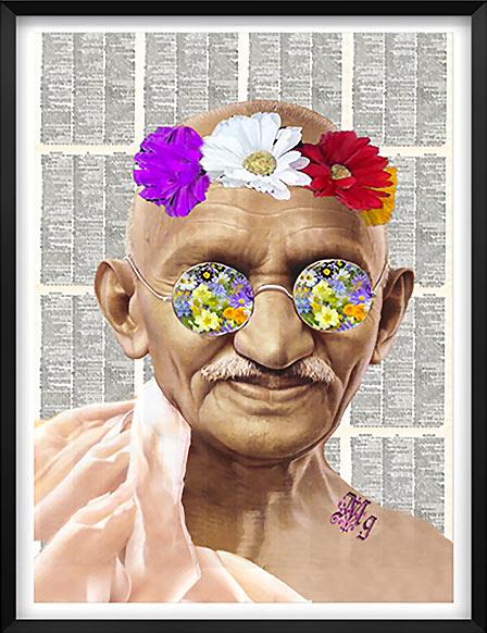 Artnwordz - Gandhi Flower