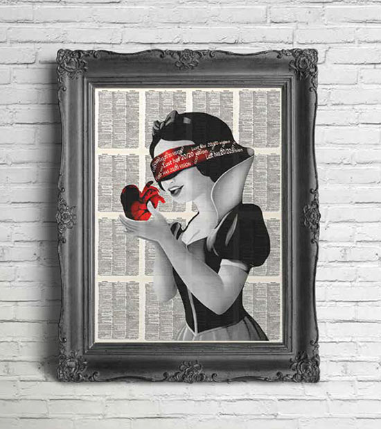 Artnwordz - Snow White on Wall